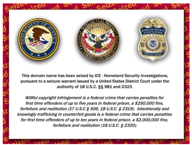 U.S. executes another round of Web site takedowns - Privacy Inc. - CNET News