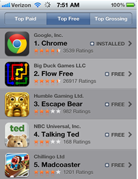 Google Chrome already No. 1 among free iOS apps - Webware - CNET