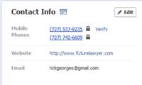 Facebook Contact Info