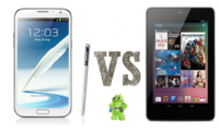Samsung Galaxy Note 2 vs Nexus 7