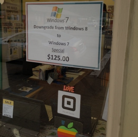 People Hate Windows 8 So Much They'll Pay  125 To Downgrade To Windows 7  Image    Cult of Mac