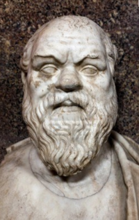 Socrates marble roman copy after a greek original from the 4th century bc