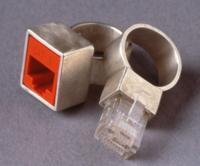 RJ45 Ethernet Wedding Rings