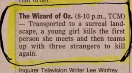 The Best Film Synopsis Ever [Pic]