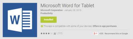 Word for tablet