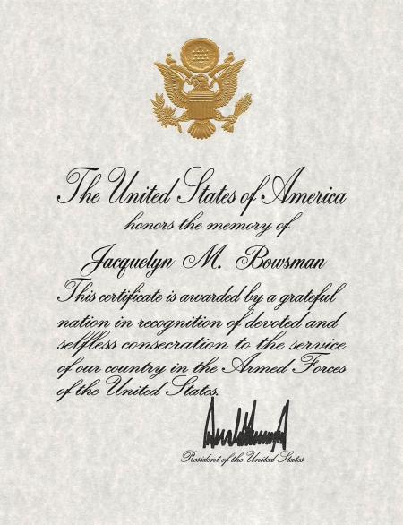 Jacquelyn Memorial Certificate_1