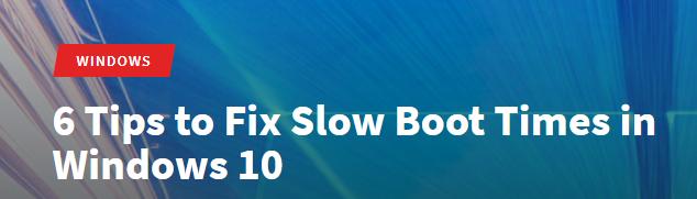 Slowboottimes