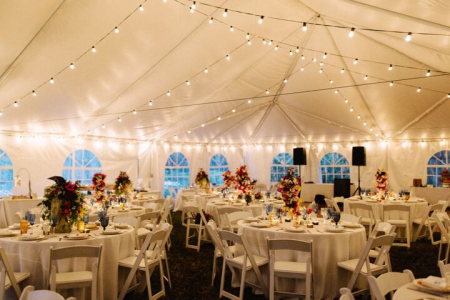 Sunken gardens wedding tent