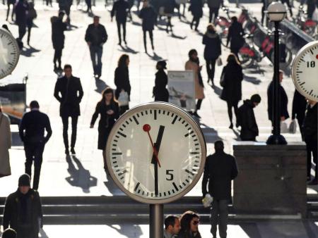 Canary-wharf-clock