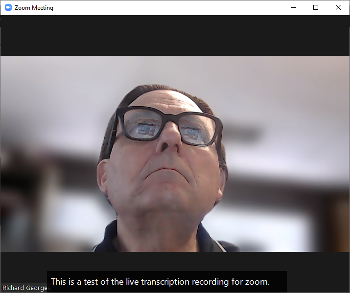 Zoom live transcription